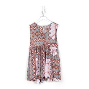 Free People | Ikat Print Sleeveless Mini Dress
